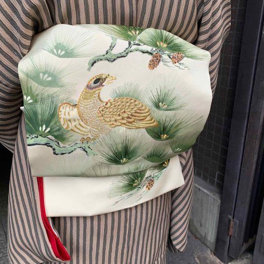 兵庫県 手描き刺繍帯 オリジナル刺繍