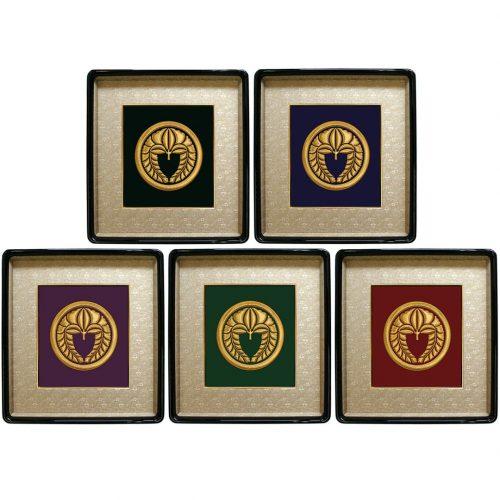 家紋刺繍額 錦額 西陣織生地 4色展開イメージ
