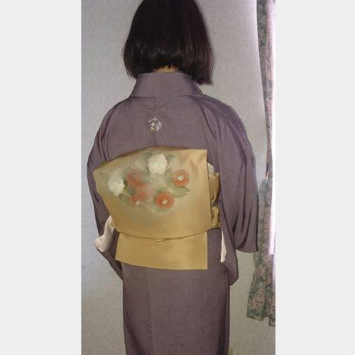 着物刺繍 お洒落紋 菊と桔梗