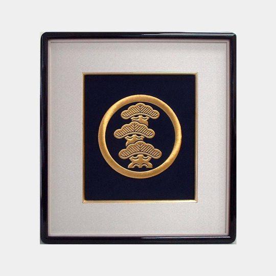 アメリカ 寿額 家紋刺繍