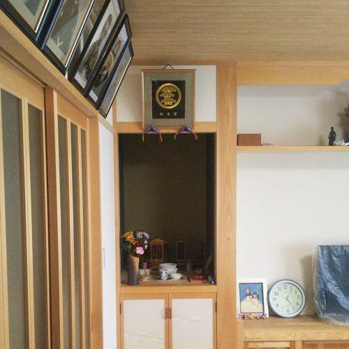 家紋刺繍額 家紋名 丸に左三階松