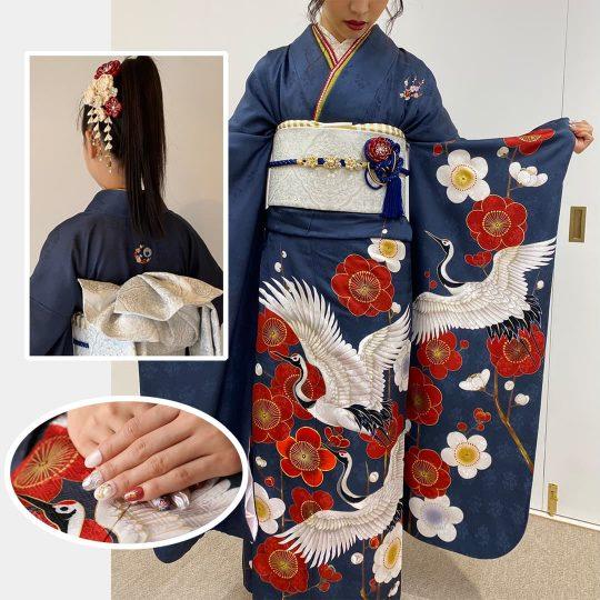 京都府 お洒落紋 着物刺繍