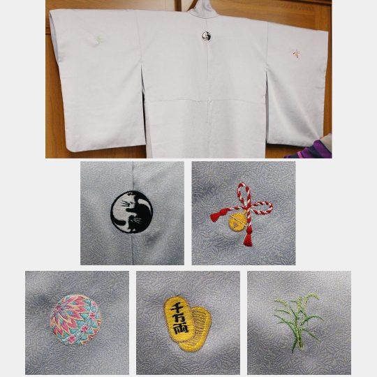 大阪府 オリジナルお洒落紋 着物刺繍